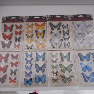 3D Butterfly Stickers Collection
