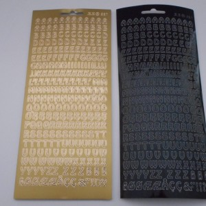 Alphabet Black And Gold Collection Peel Offs