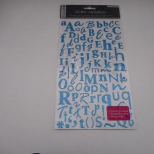 Blue Glitter Alphabet