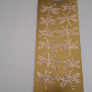 Dragonfly Gold Peel Offs