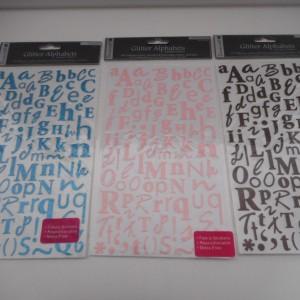 Glitter Alphabet Sticker Collection
