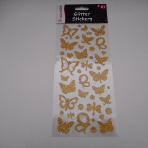 Gold Glitter Butterflys