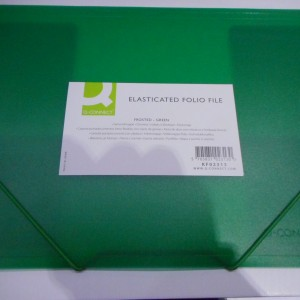 Green Elasticated  File