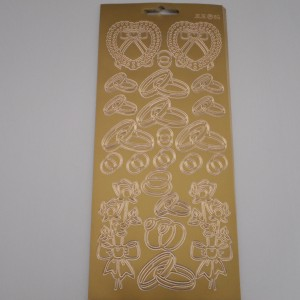 Hearts And Rings Gold Peel Offs