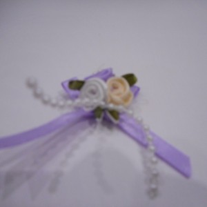 Lilac Rose And Pearl Bow