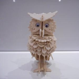 Made 3D Wooden Owl