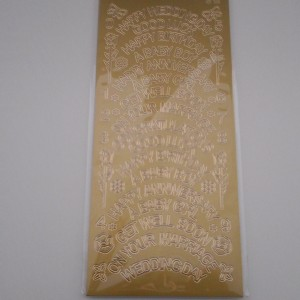 Mixed Word Gold Peel Offs