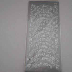 Mixed Word Silver Peel Offs