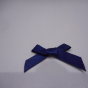 Navy Satin Bow