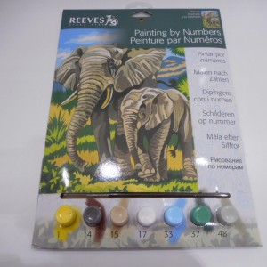 Paint By Numbers Elephants