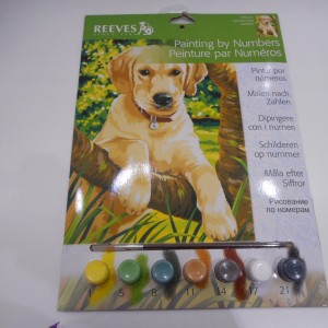 Paint By Numbers Puppy Lab