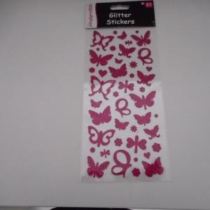 Pink Glitter Butterflys