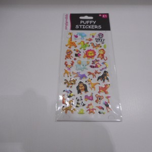 Puffy Stickers African Animals