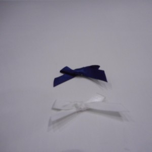 White And Navy Satin Bow Collection