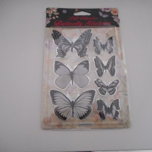 White and Black Butterfly