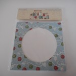 circle xmas card and envelope