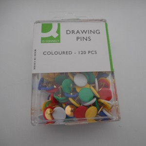 drawing pins multi coloured