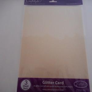 ivory glitter card