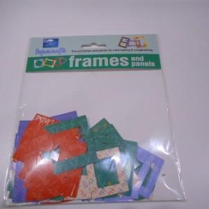 multi coloured frames