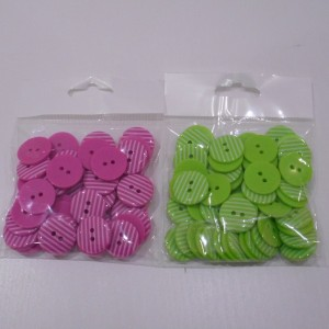 pink and green stripe button colecction