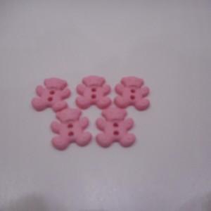 pink bear buttons