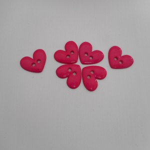 pink heart buttons