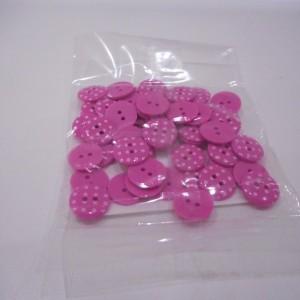 pink polka dot buttons