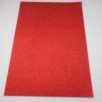 red glitter card