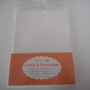 ribbon card and envelope