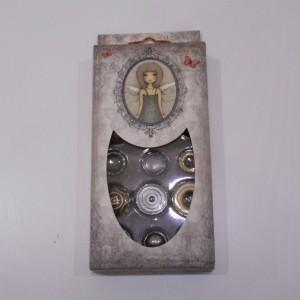 santoro metal buttons