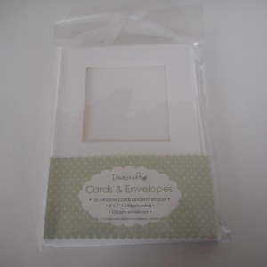 square window card and envelopes
