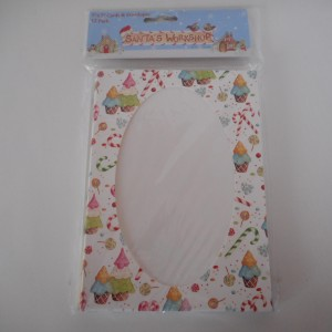 xmas oval card and envelope
